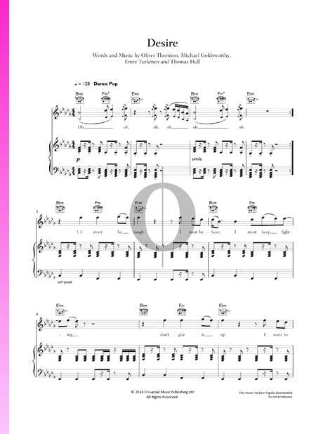 Desire Musik-Noten