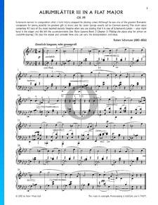Bunte Blätter, Op. 99, 5. Albumblätter: Nr. 3 Ziemlich langsam, sehr gesangvoll