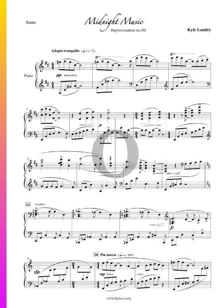 Midnight Music Sheet Music