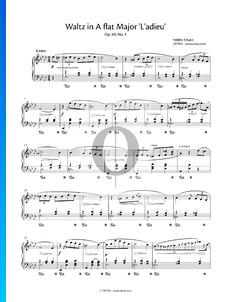 Waltz A-flat Major, Op. 69 No. 1 (Valse de l'adieu)