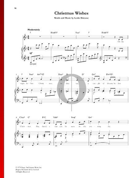 Christmas Wishes Sheet Music