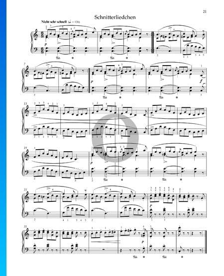 Schnitterliedchen, Op. 68 Nr. 18 Musik-Noten