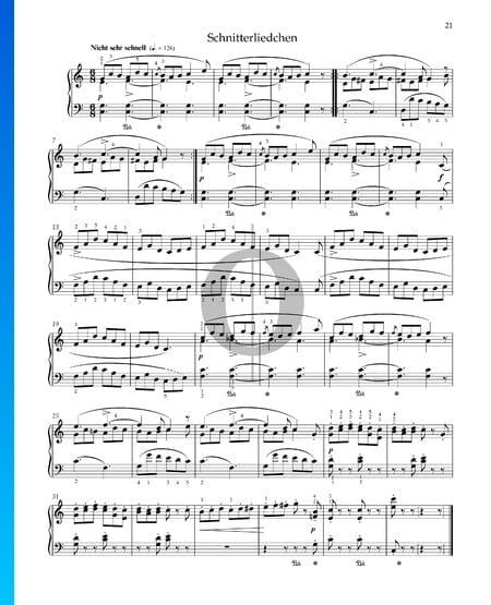 The Reapers' Song, Op. 68 No. 18 Sheet Music