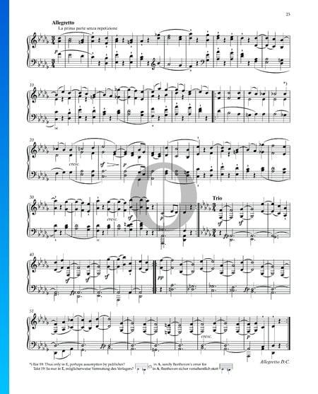 "Sonata quasi una Fantasia (""Mondscheinsonate""), Op. 27 No. 2: 2. Allegretto Musik-Noten"
