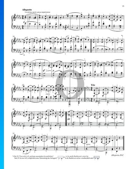 "Sonata quasi una Fantasia (""Moonlight Sonata""), Op. 27 No. 2: 2. Allegretto Sheet Music"