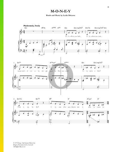 M-O-N-E-Y Musik-Noten