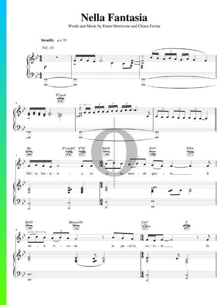 Nella Fantasia Sheet Music