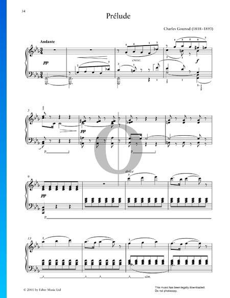 Präludium c-Moll Musik-Noten