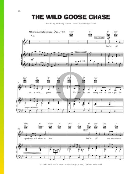 The Wild Goose Chase Sheet Music