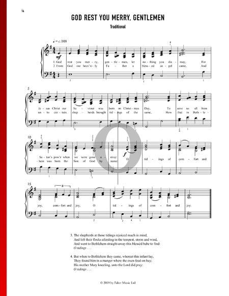 God Rest You Merry, Gentlemen Sheet Music