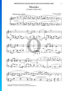Mazurka (Homage to Paderewski)