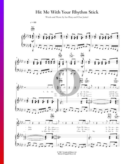 Hit Me With Your Rhythm Stick Sheet Music