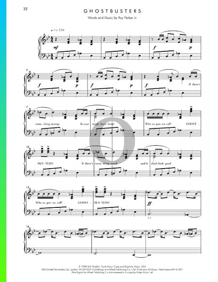 Ghostbusters Sheet Music