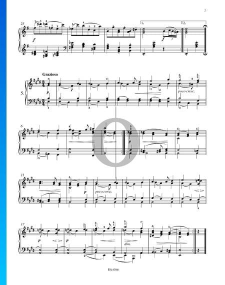 Dieciséis valses, Op. 39 n.º 5 Partitura