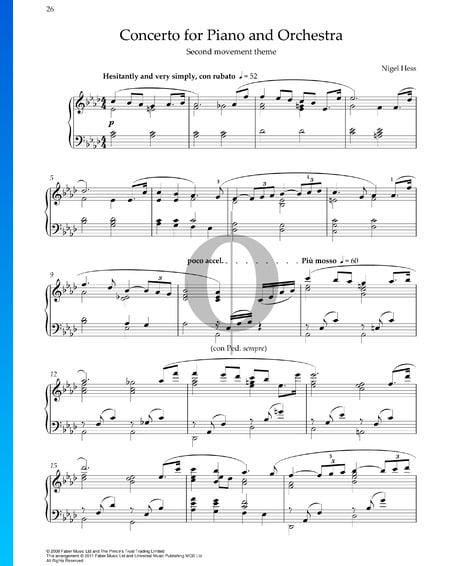 Concerto for Piano and Orchestra: No. 2 The Love Sheet Music