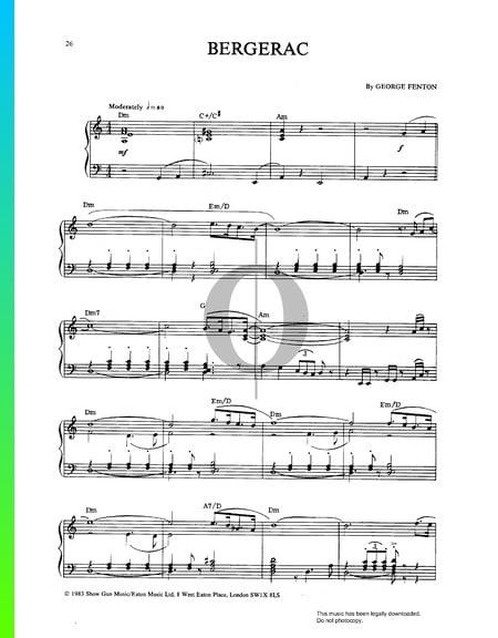 Bergerac Musik-Noten