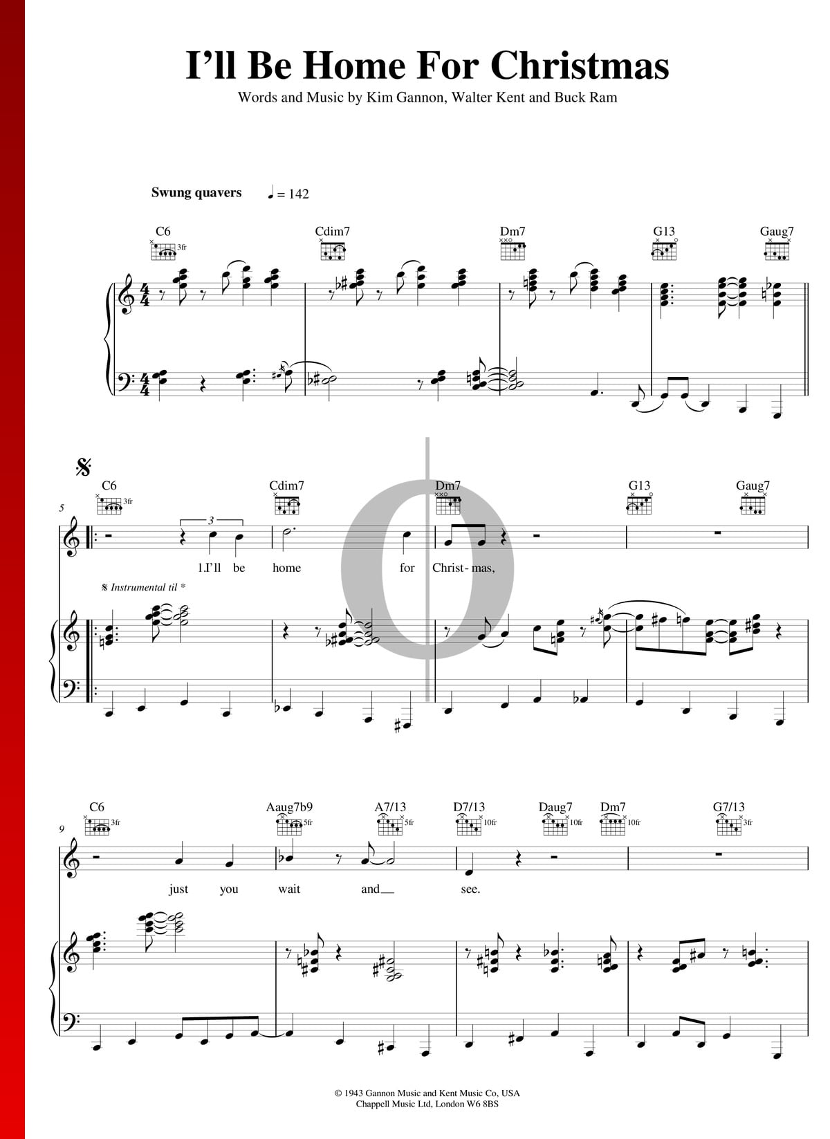 Bing Crosby Ill Be Home For Christmas.I Ll Be Home For Christmas Sheet Music Piano Voice
