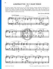 Bunte Blätter, Op. 99, 5. Albumblätter: No. 1 Ziemlich langsam