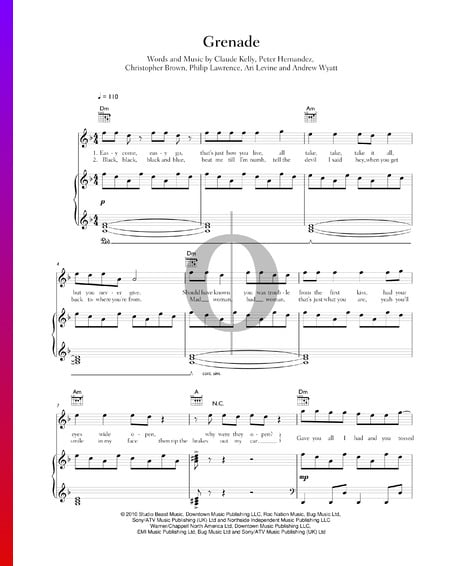Grenade Musik-Noten