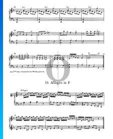 Allegro in F-Dur, Nr. 33