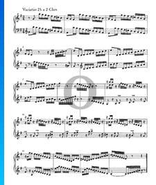 Variations Goldberg, BWV 988: Variatio 23. a 2 Clav.