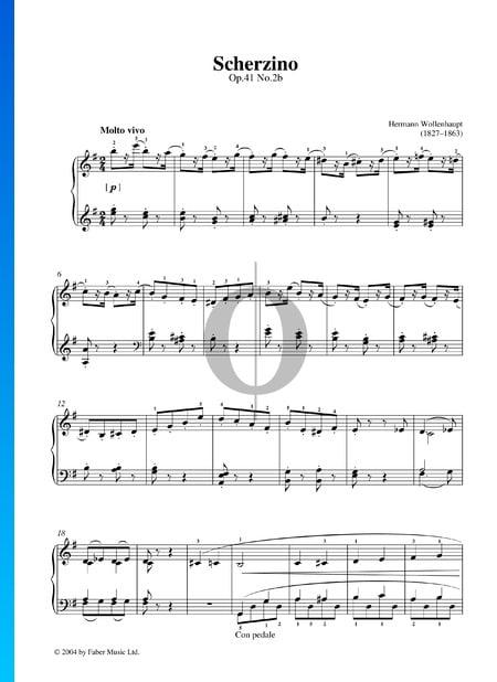 Scherzino, Op. 41 No. 2b Sheet Music