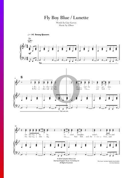 Fly Boy Blue / Lunette Musik-Noten