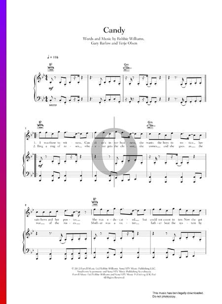 Candy Musik-Noten