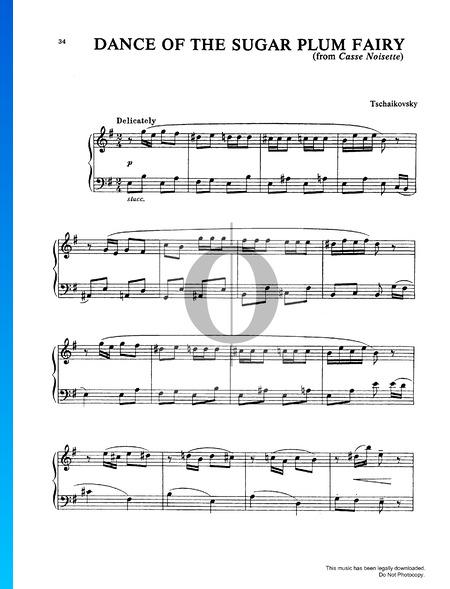 Tanz der Zuckerfee, Op. 71 Musik-Noten