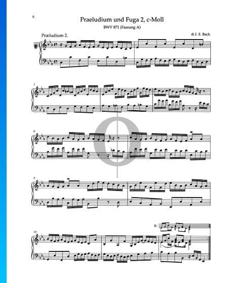 Prelude C Minor, BWV 871 Sheet Music