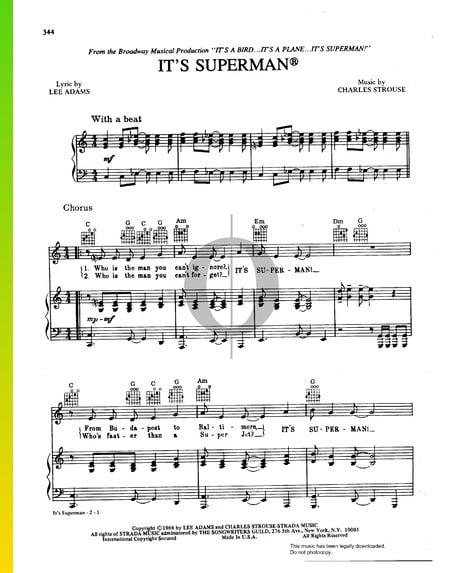 It's Superman Musik-Noten