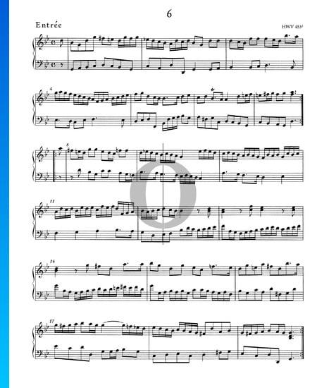 Suite/Concerto en Sol mineur, HWV 453: 2. Entrée Partition