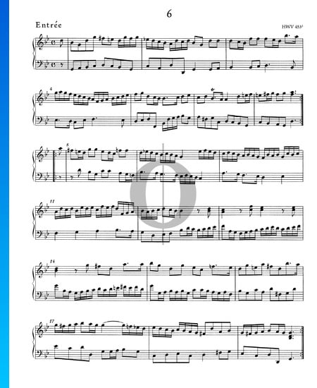 Suite/Concerto G Minor, HWV 453: 2. Entrée Sheet Music