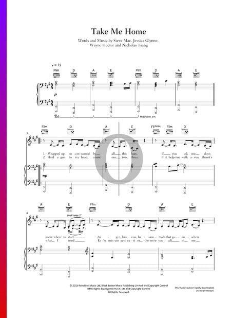 Take Me Home Sheet Music