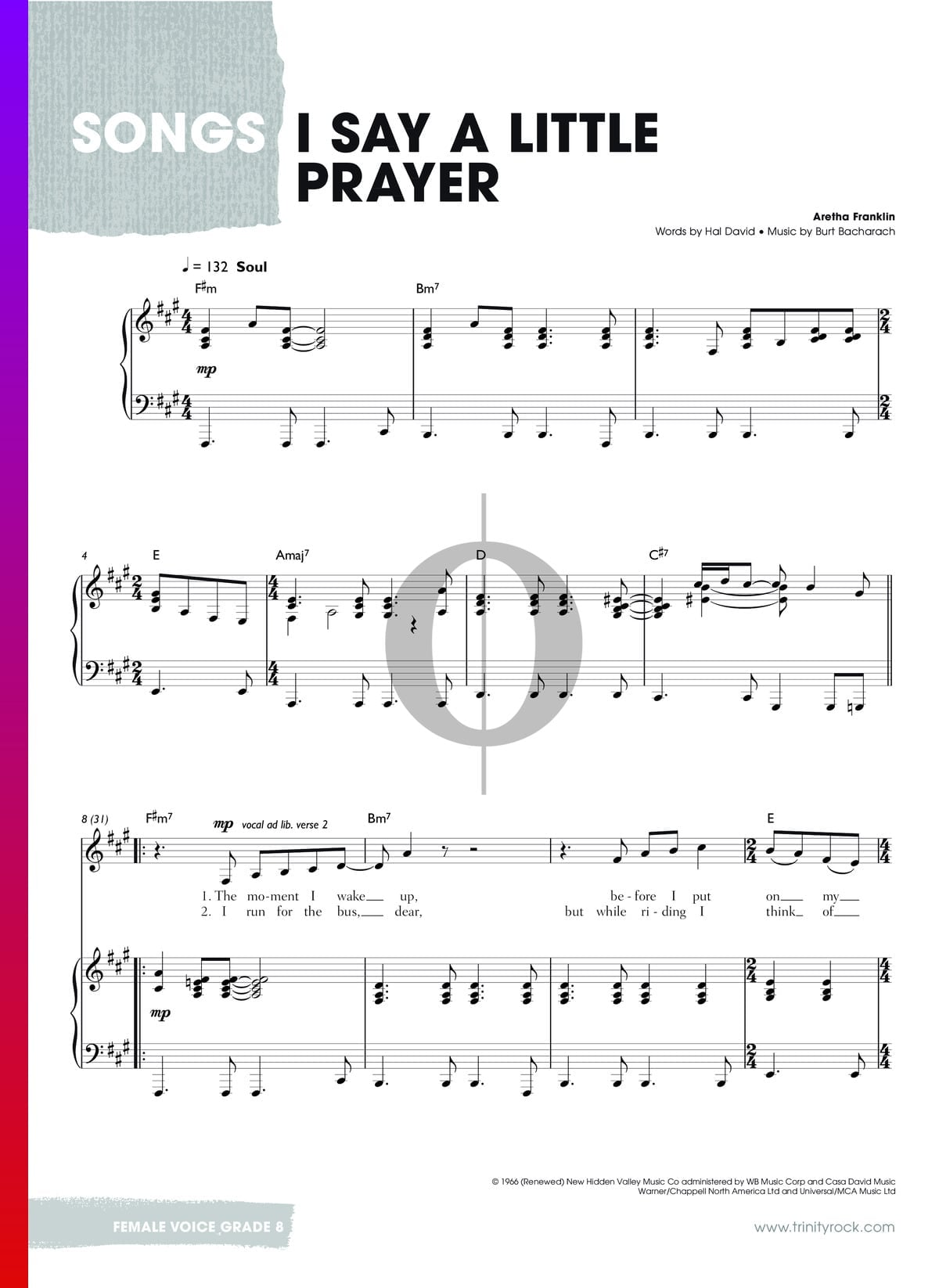 ▷ I Say A Little Prayer Sheet Music (Piano, Voice) - PDF