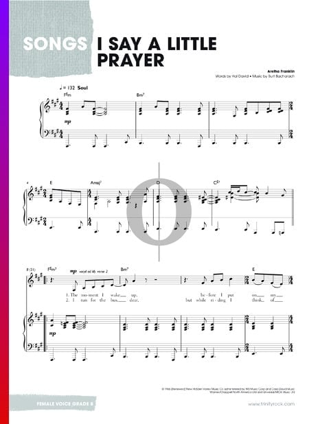 I Say A Little Prayer Sheet Music