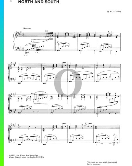North And South Sheet Music