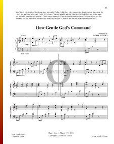How Gentle God's Command