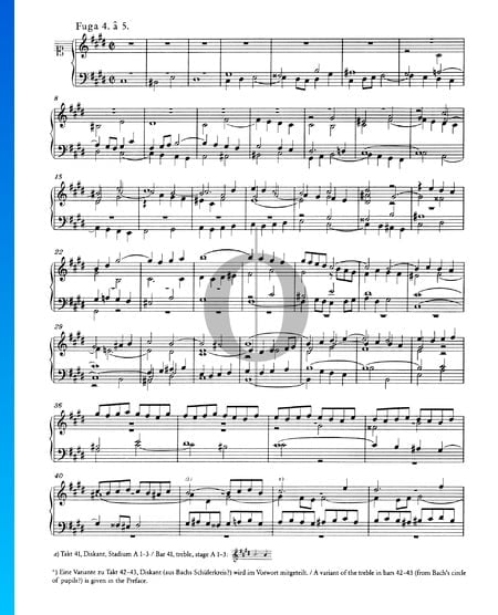 Fugue 4 C-sharp Minor, BWV 849 Sheet Music
