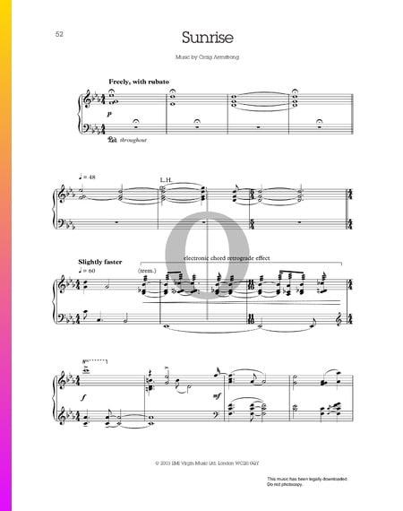 Sunrise Musik-Noten