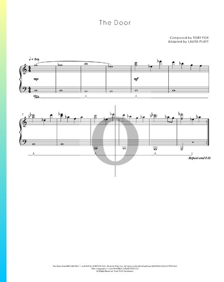 The Door Partitura