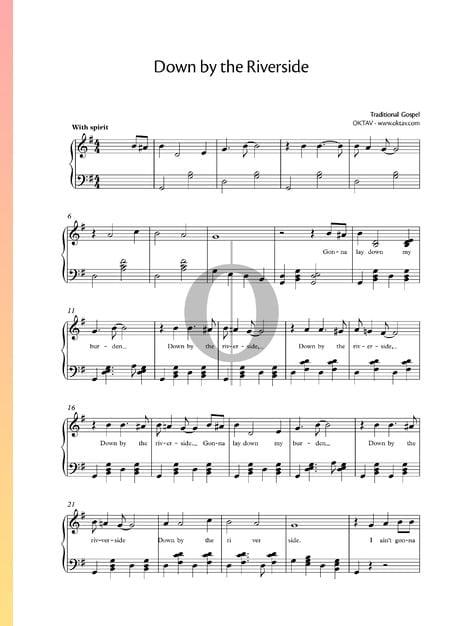 Down by the Riverside Musik-Noten