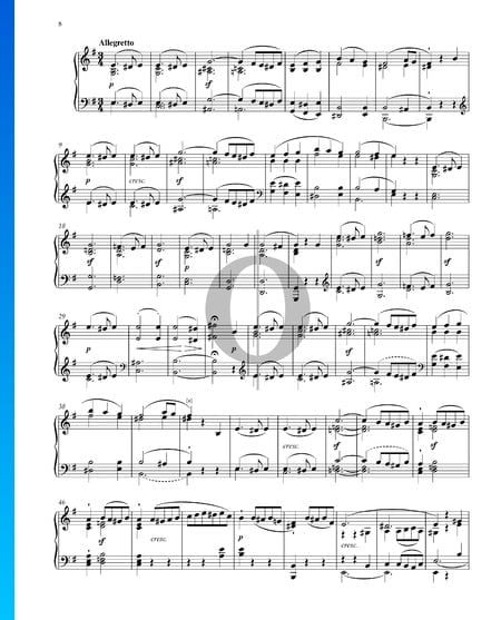 Sonata in E Major, Op. 14 No. 1: 2. Allegretto Sheet Music