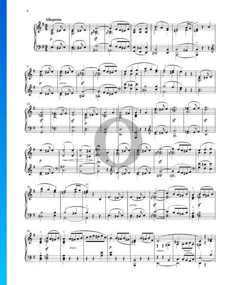 Sonate in E-Dur, Op. 14 Nr. 1: 2. Allegretto Musik-Noten