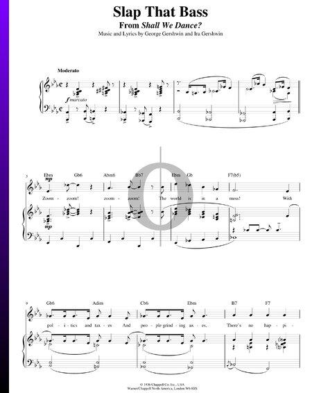 Slap That Bass Musik-Noten