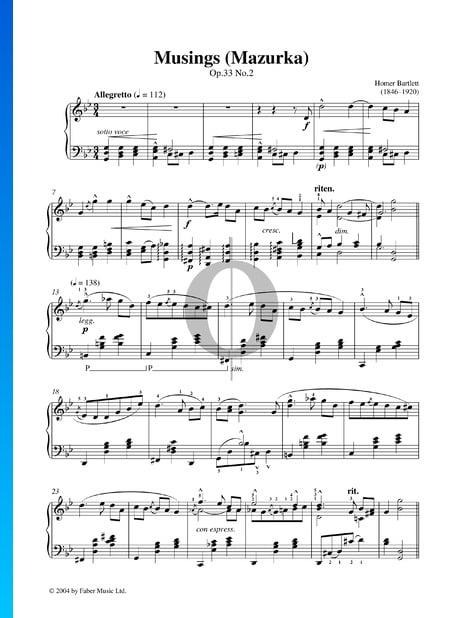 Musings (Mazurka), Op.33 No.2 Partition