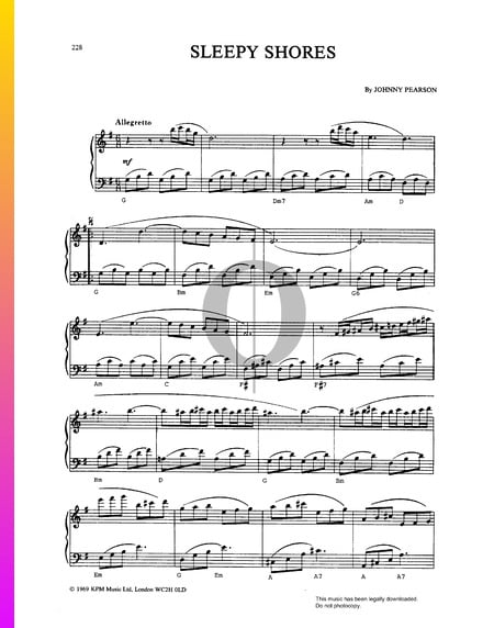 Sleepy Shores Sheet Music
