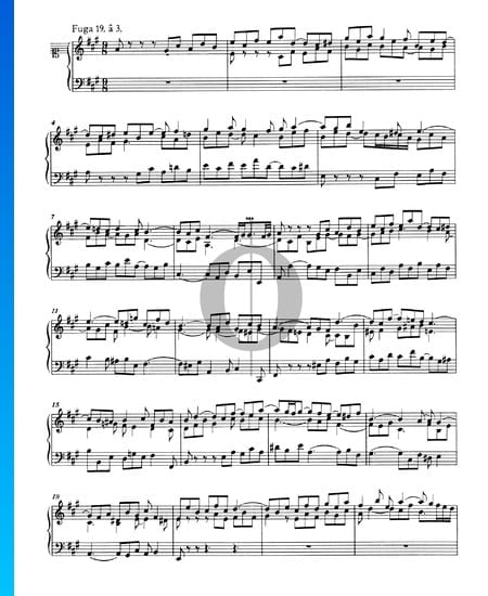 Fugue 19 A Major, BWV 864 Sheet Music