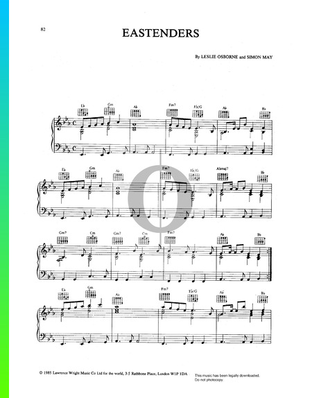 Eastenders Theme Partitura