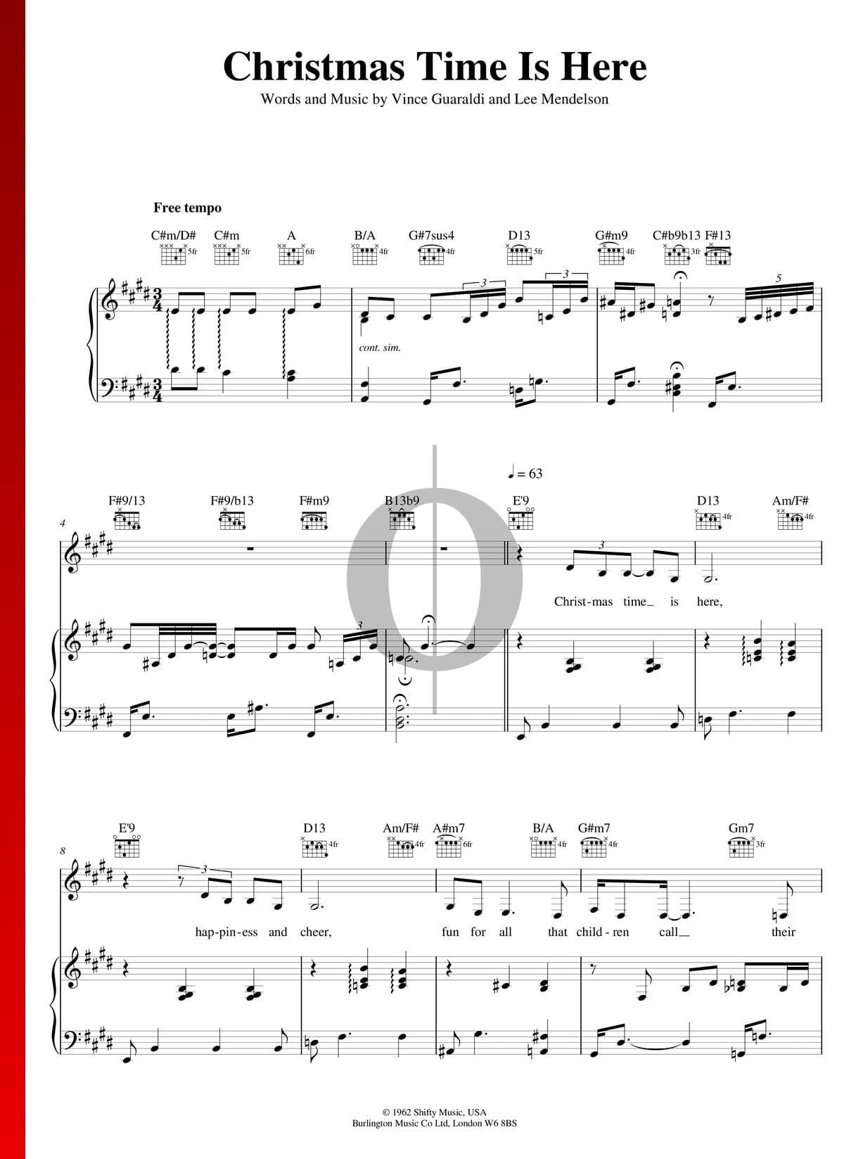 Christmas Time Is Here Piano.Christmas Time Is Here Sheet Music Piano Voice Guitar